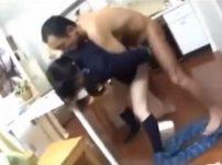 黒髪JKが自宅に侵入してきた男に中出しレイプされる…!