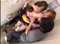 【※レイプ※】夏祭り帰りの浴衣女をトイレで手荒に犯し尽す…!
