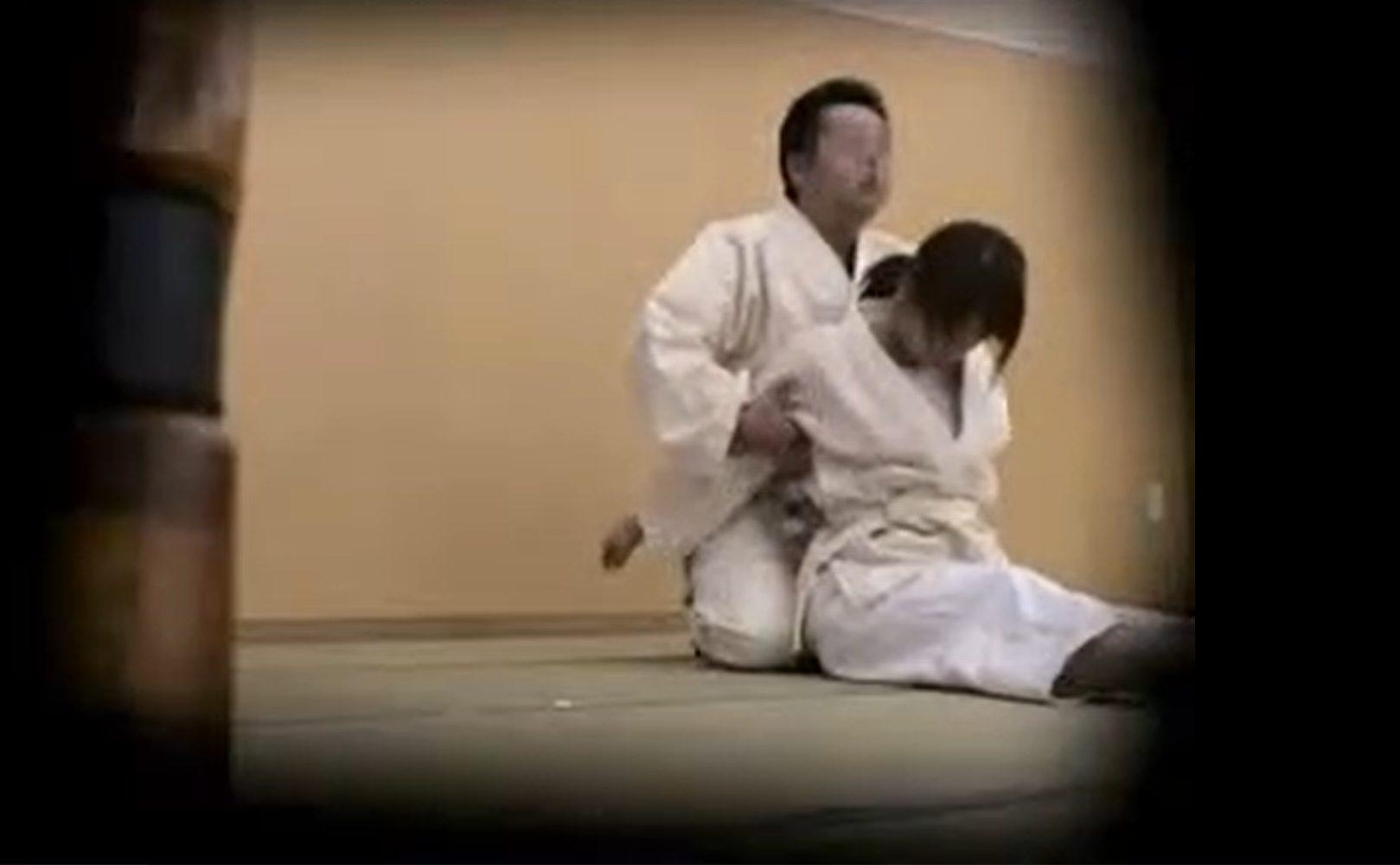 【※レイプ※】JK部員が柔道部顧問に力で捻じ伏せられ中出しの餌食に…!