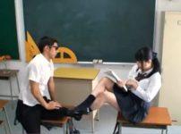 【※中出しレイプ※】生意気巨乳JKを陰キャが怒りの逆襲!教室で掴みかかり強制中出し…!