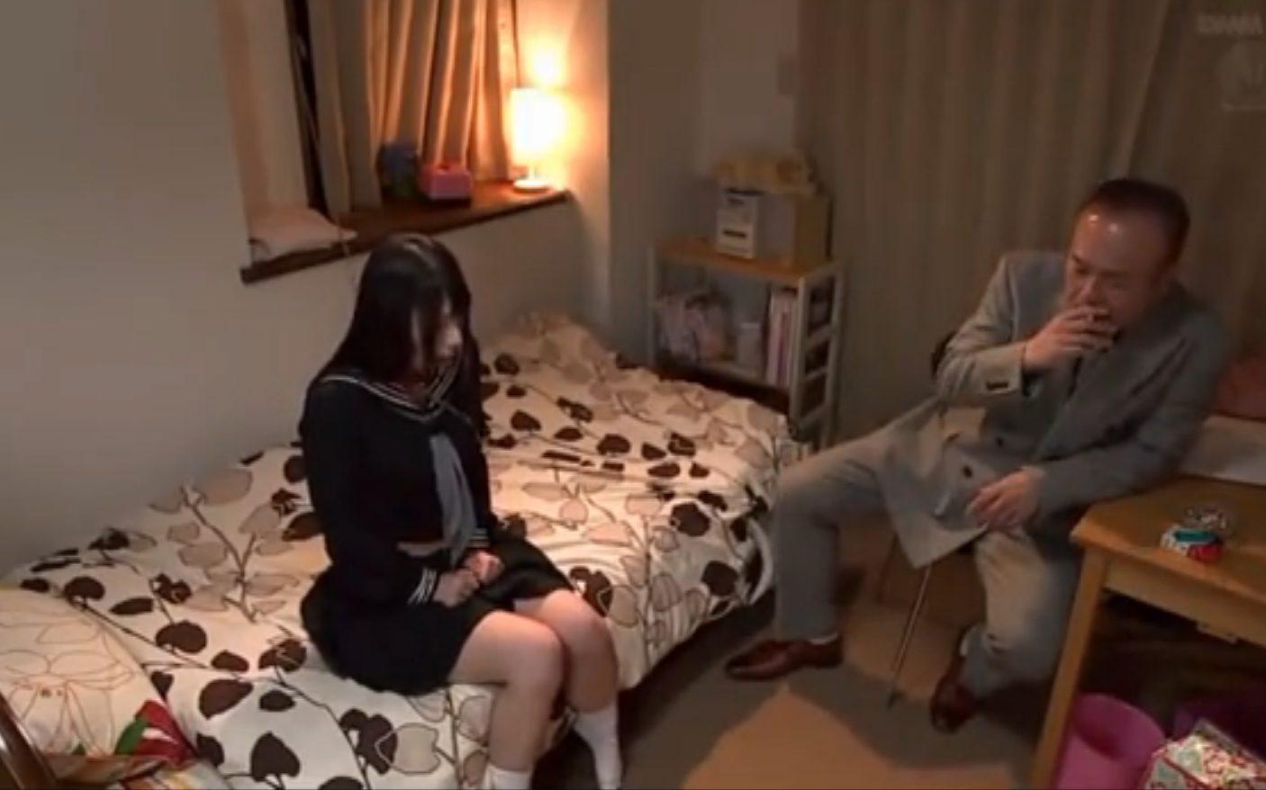 【上原亜衣】黒髪JKが借金取りにのレイプの餌食に!泣いても許されず無理やり中出し…!