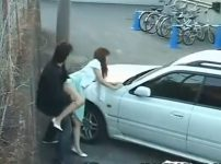 【※野外レイプ※】駐車場で犯すリアルなレイプ映像!着衣のまま青姦レイプしヤリ逃げ…!