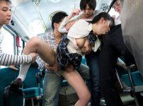 三田杏【※JKレイプ※】電車や図書室や行く先々で痴漢被害に遭うJK!ついには廊下でも犯され男達の性処理道具に…!