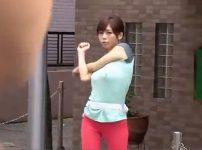 【※巨乳レイプ※】早朝ジョギング中の巨乳人妻を襲い中出しレイプ…!青葉優香