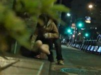 【※巨乳レイプ※】夜道で巨乳泥酔女を連れ去り強制レイプ…!